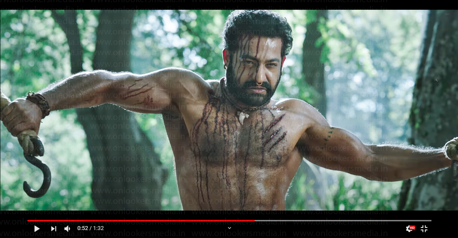 TR's First Look Video from RRR Movie,rrr movie bheem first look,ss rajamouli,jr ntr in rrr,jr ntr new look in rrr,jr ntr mass body rrr,rrr,ram charan,tollywood cinema,telugu cinema