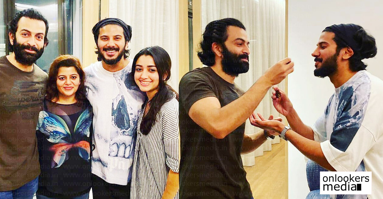 prithviraj sukumara,dulquer salmaan,prithviraj with dulquer salmaan images,prithviraj dulquer salmaan family images,malayalam cinema news,dulquer salmaan prithviraj latest news,prithviraj family images,dulquer salmaan family images,prithviraj reply dulquer salmaan birthday wish