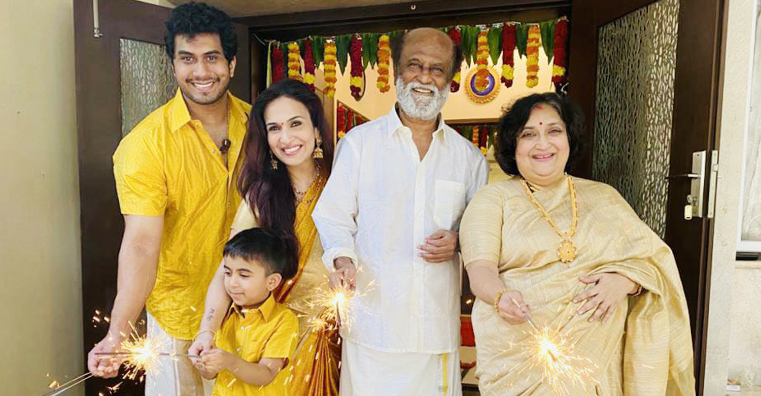 Rajinikanth latest news,Rajinikanth latest pics,Rajinikanth celebrates Diwali with family images,photos Rajinikanth celebrates Diwali with family,tamil cinema news,kollywood news