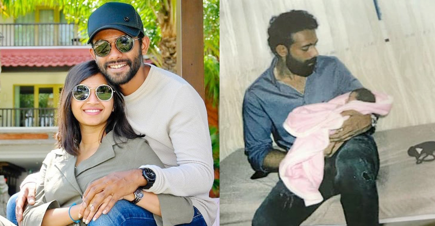malayalam actor Arjun Ashokan latest news,actor Arjun Ashokan latest news,malayalam film news,mollywood film news,Arjun Ashokan family image,Arjun Ashokan blessed with baby girl,actor Arjun Ashokan new born baby