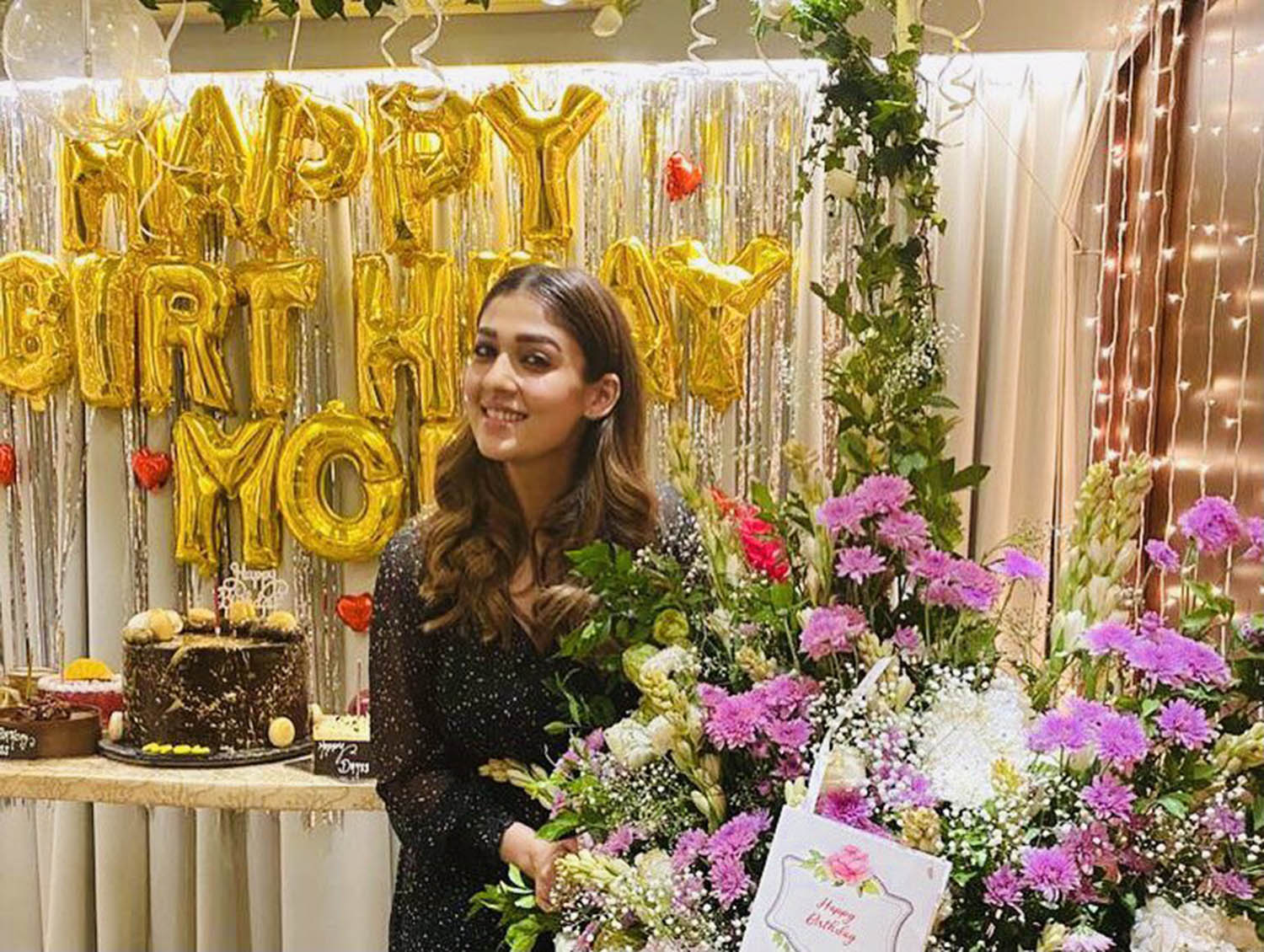 Nayanthara recent images,Nayanthara latest news,Nayanthara 36th birthday celebration stills,Nayanthara's birthday celebration photos,Nayanthara birthday celebration pics