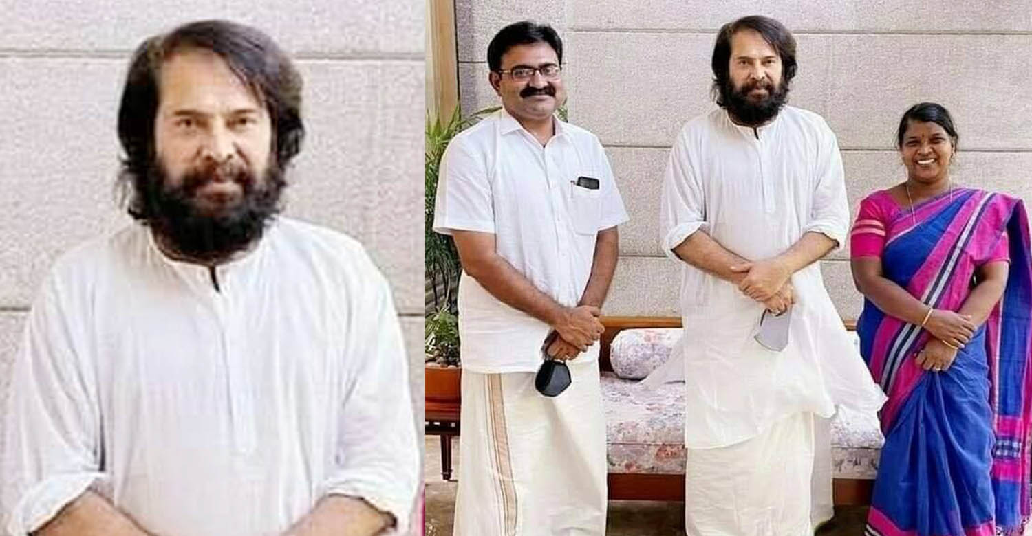 mammootty new look,mammootty with ernakulam new mayor,mammootty,megastar mammootty,mammootty latest look,mammootty new look image
