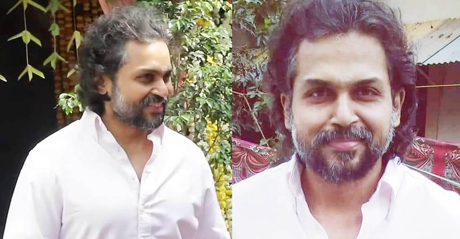 tamil actor karthi new movie look,actor karthi new look,actor karthi new salt and pepper look,tamil actor karthi new hair style,actor karthi latest imges