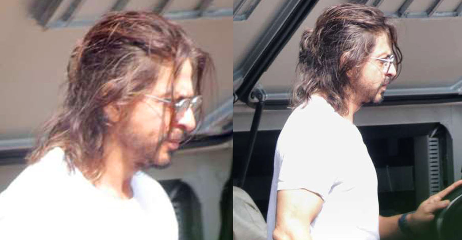 Shah Rukh Khan latest news,Shah Rukh Khan's stills from Pathan shooting spot,shah rukh khan new look images,shah rukh khan new movie look,shah rukh khan pathan movie look,shah rukh khan long hair look,shah rukh khan latest hair style,shah rukh khan new style images