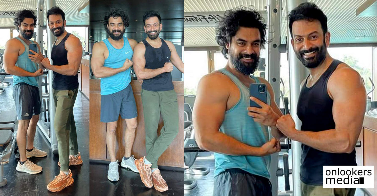 Prithviraj ,Tovino, Prithviraj and Tovino workout photos, Prithviraj gym workout photos, Tovino workout photos, Prithviraj and Tovino photos