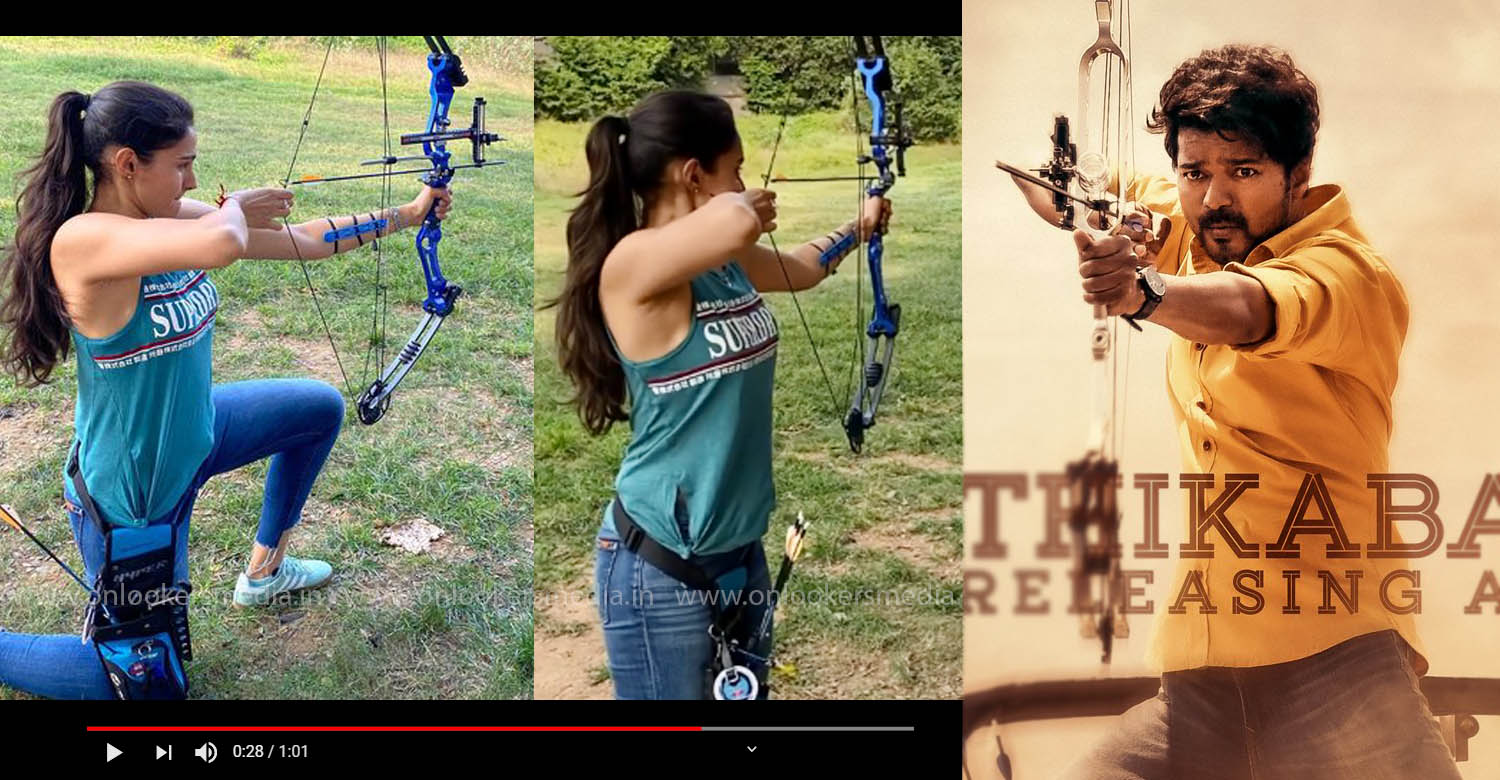 Andrea Jeremiah training in archery for Master, Andrea Jeremiaharchery training,actress Andrea Jeremiah latest news,Andrea Jeremiah master,Andrea Jeremiah archery