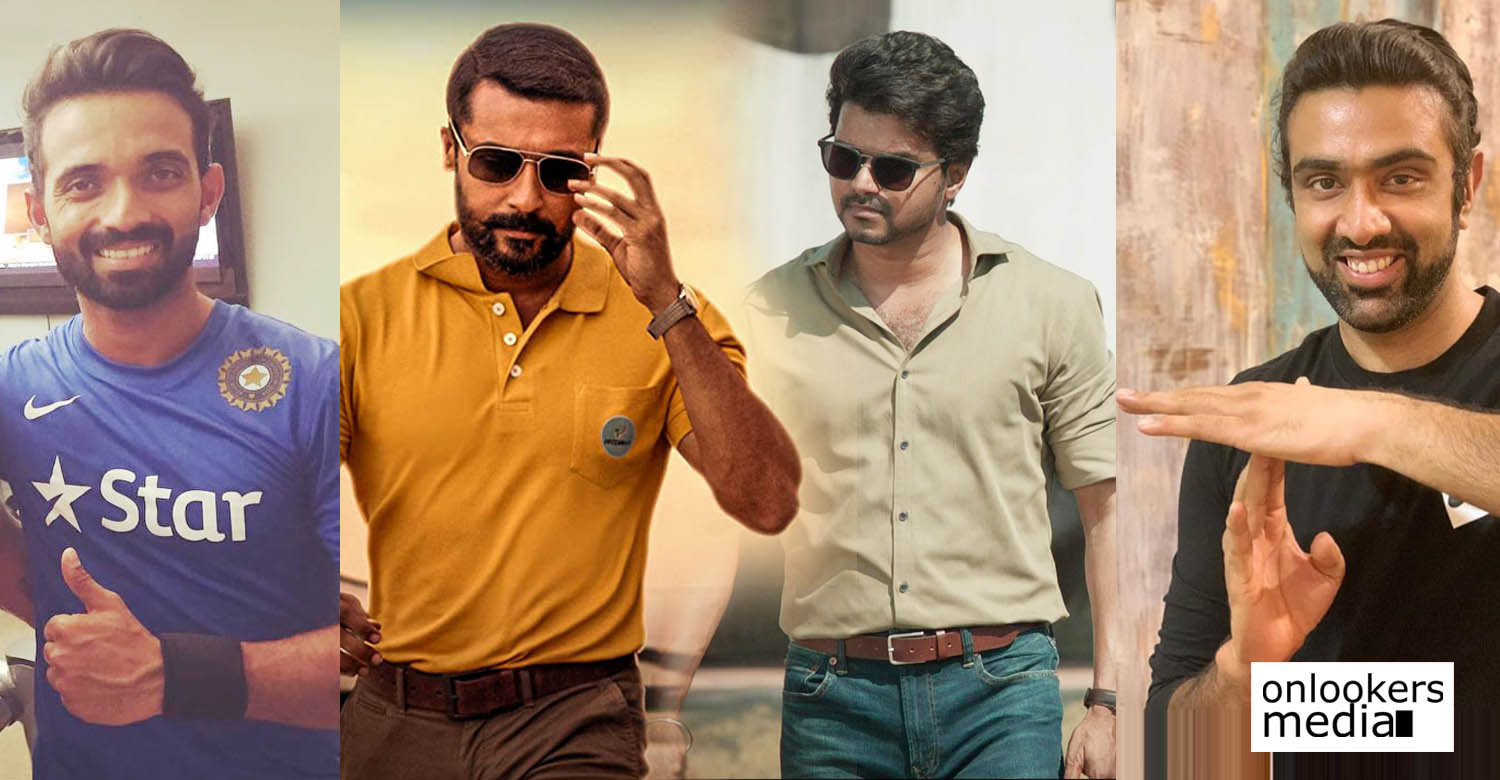 Ajinkya Rahane,Ravichandran Ashwin,Soorarai Pottru,master,Ajinkya Rahane tweet about Soorarai Pottru,latest tamil cinema news,tamil film industry,kollywood film news,ajinkya rahane ashwin latest news