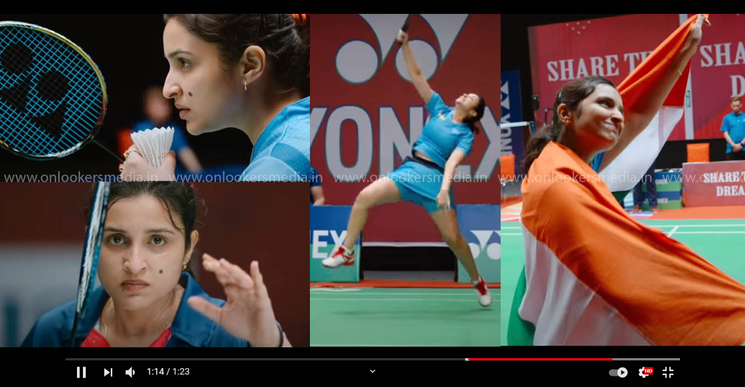 saina official teaser,parineeti chopra as saina nehwal,saina nehwal biopic movie,parineeti chopra,parineeti chopra saina movie teaser,parineeti chopra in saina movie