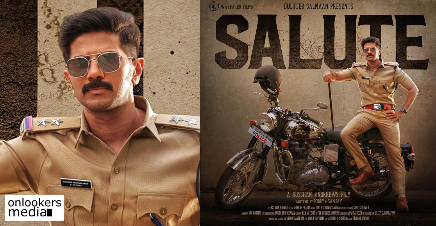 Dulquer Salmaan Rosshan Andrrews Salute Movie First Look Poster