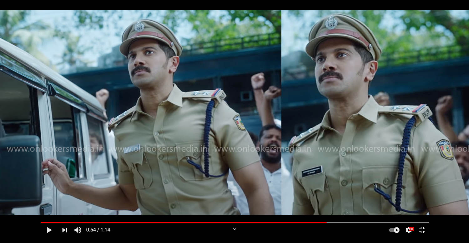 salute movie teaser,salute movie,dulquer salmaan,rosshan andrrews,dulquer salmaan in salute movie,dulquer salmaan police character movie,dulquer police role movie,latest malayalam cinema,malayalam cinema news,salute teaser