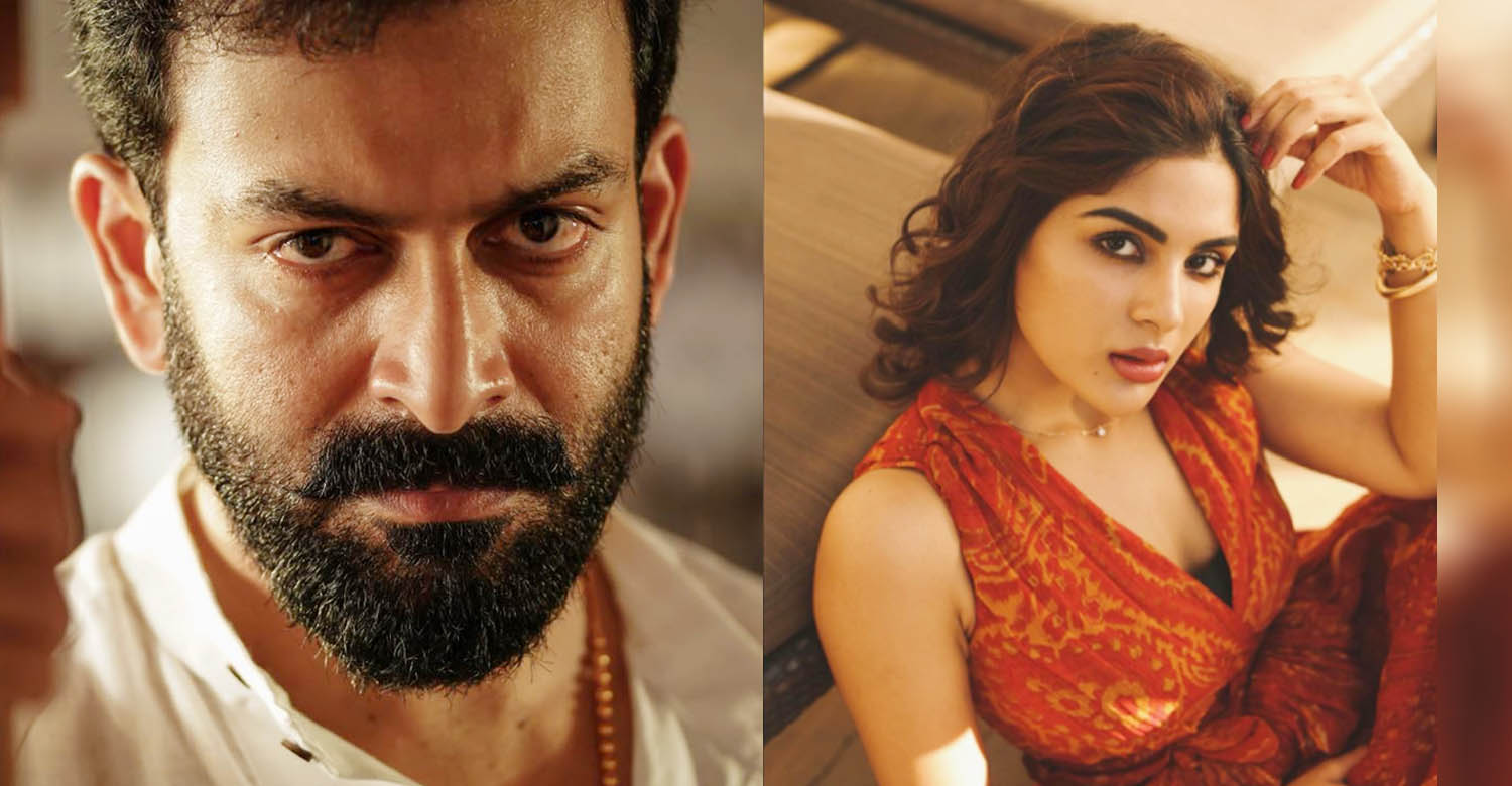 prithviraj sukumaran,samyuktha menon,malayalam actress,kaduva movie latest news,kaduva movie prithviraj heroine,shaji kailas,prithviraj's kaduva cast,actress samyuktha menon new images,samyuktha menon photos