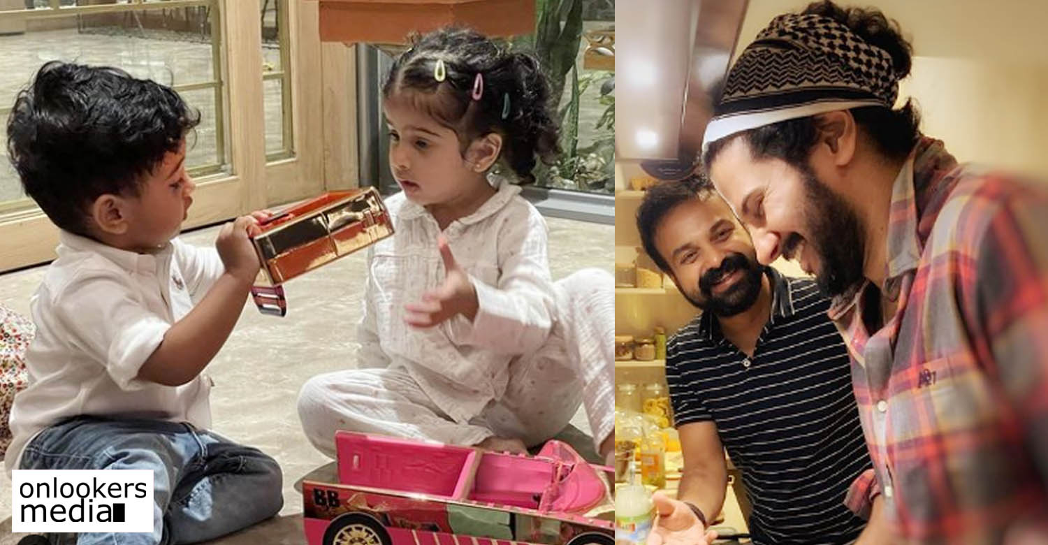Kunchacko Boban's birthday wish for Dulquer's daughter Maryam,Dulquer Salmaan's daughter Maryam Ameerah Salmaan,Dulquer Salmaan's daughter Maryam Ameerah Salmaan birthday,Kunchacko Boban shared a photo of Mariam with Izahaak Kunchacko